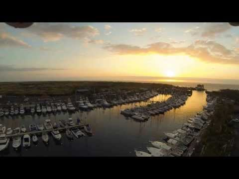 DJI Phantom Flight over Honokohau Harbor in Kona, Hawaii