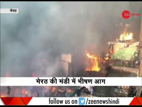 Massive fire in vegetable market guts nearly 200 houses in Meerut slum