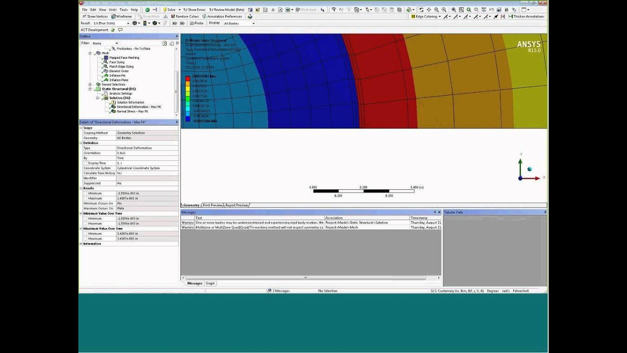 Simulating Interference Fits - ANSYS e-Learning | CAE Associates