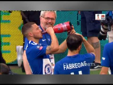 CELEBRATION AS CHELSEA LIFT THE FA CUP FOR THE 8TH TIME