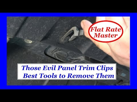 Those Evil Panel Trim Clips-- Best Tools To Remove Them
