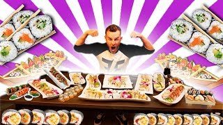 THE WORLDS BIGGEST SUSHI CHALLENGE! (15,000+ CALORIES)
