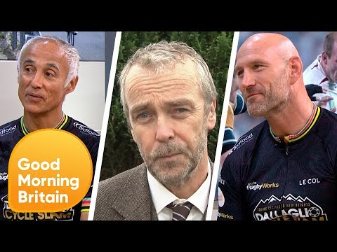 Celebrities to Participate in Intense Charity Bike Ride Through Europe  | Good Morning Britain