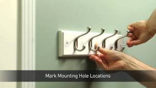 How To Install A Hook Rail For Coats & Hats