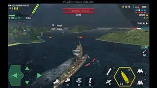 Battle of Warships: Naval Blitz 7 kill / USS MONTANA / MMG BASS