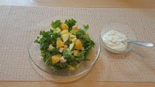 Яркий ,сочный салат с куриным филе и апельсином!
