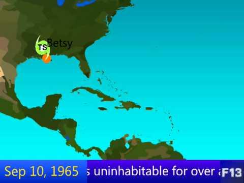 1965 Atlantic Hurricane Season Animation