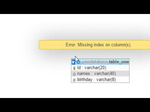 Create Table Relation In PhpMyAdmin