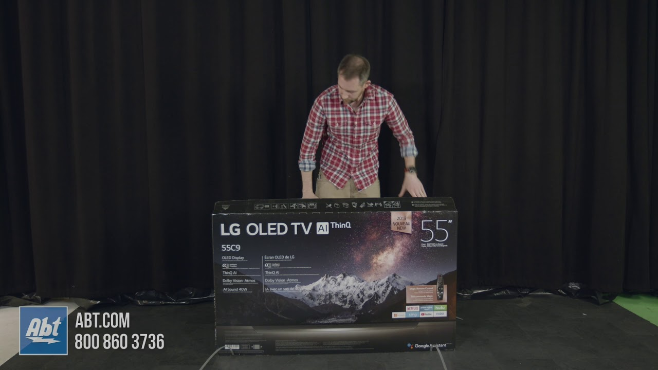 Unboxing The LG C9P OLED TV