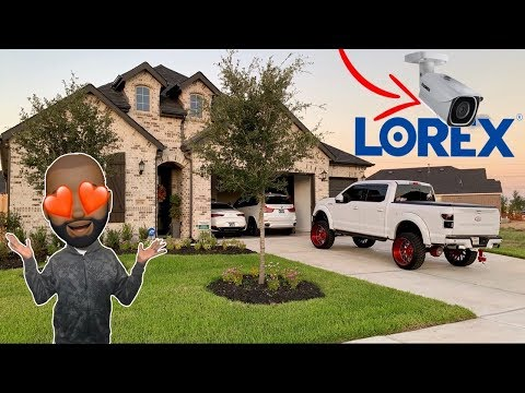 HOW TO INSTALL 4K LOREX HOME SECURITY CAMERAS with prewired house