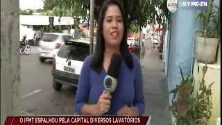 IFMT instala lavatórios portáteis por Cuiabá