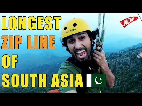 Longest Zip line of South Asia   Zip line Pakistan   Skybridge Cherat