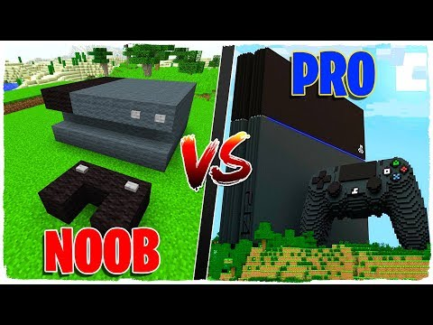 MINECRAFT BATALLA DE CONSTRUCCIÓN: PLAYSTATION 4 NOOB VS PLAYSTATION 4 PRO!