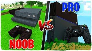 CONSTRUCTION BATTLE: PLAYSTATION 4 NOOB VS PLAYSTATION 4 PRO!