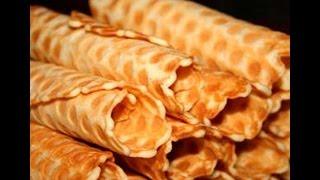 Как приготовить вафельные  трубочки. | How to prepare a wafer rolls.(Смотрите очень простой способ приготовления вафельных трубочек. Смотрите на сайте http://smotricook.info/ | See a very..., 2014-08-06T09:23:18.000Z)