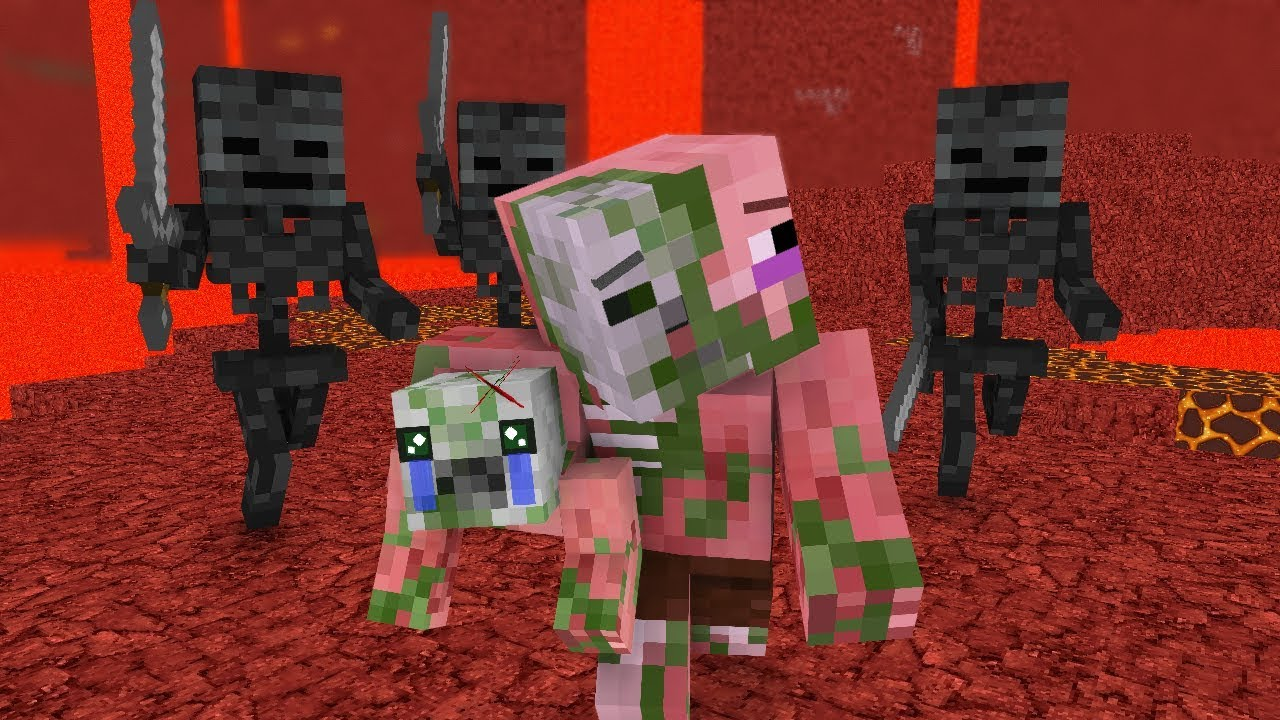Zombie Pigman Life 1-3 - Minecraft animation - YouTube