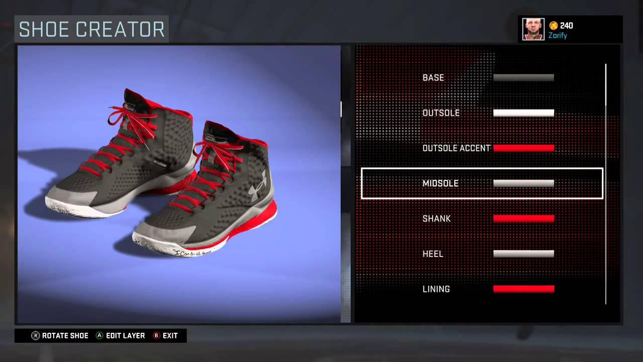 hot sale online a25e1 01ca6 NBA 2K16 Shoe Creator - Under Armour Curry 1