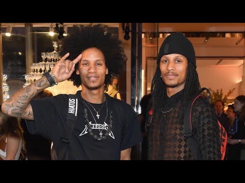 Les Twins Opening of Longchamp on Fifth Avenue New York | Thursday 03 May 2018