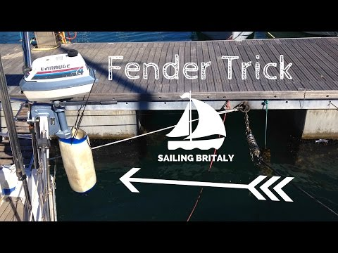 Outboard Engine Fender Trick  | ⛵ Sailing Britaly ⛵