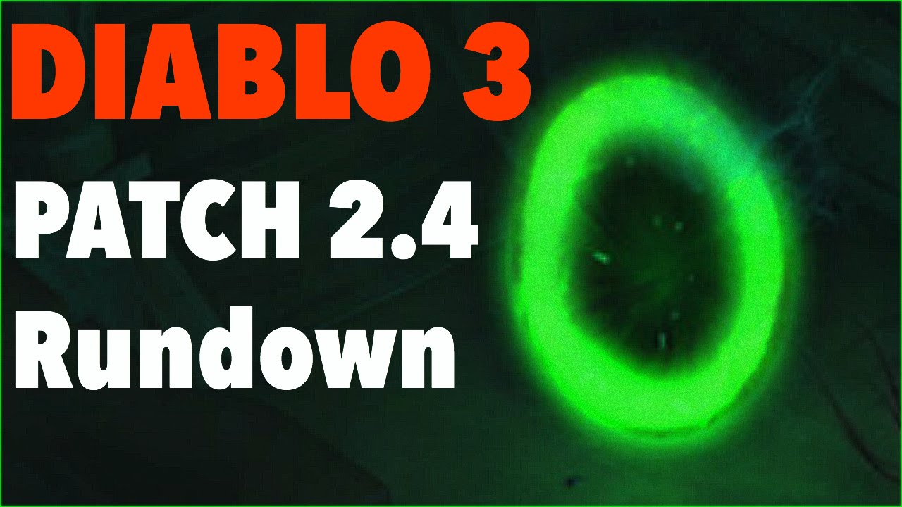Patch 2.4 New Wings, Set Dungeons, Stash Tabs and More! Diablo 3 - YouTube