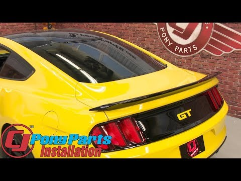 - Mustang Fastback Ford Rear Spoiler GT Track Pack Black Painted Installation