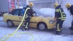 Autopalo Heinolan keskustassa 21.1.2016