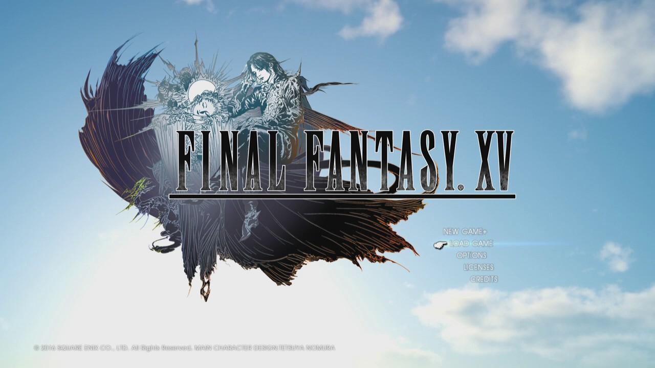 Final Fantasy Xv Logo Uhd 4k Wallpaper: Final Fantasy XV (New Game Plus) Title Screen Music