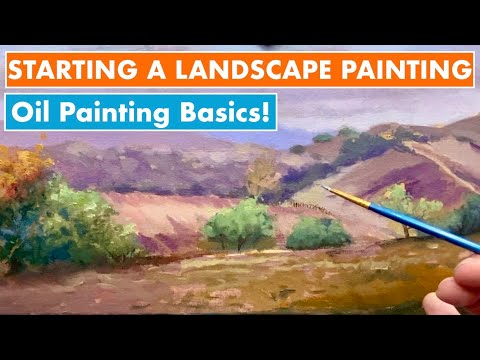 How to Paint a Landscape in Oils (Part 1:  The Drawing and Color-Block-In)