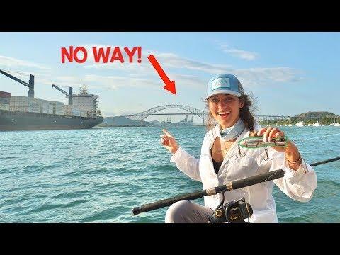 Catching PB Mahi Mahi At The PANAMA CANAL! - PANAMA TRAVEL VLOG 2