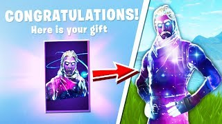 My Friend Gave Me A GALAXY SKIN in Fortnite Battle Royale