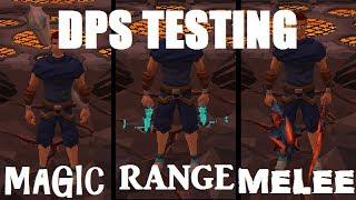 Runescape DPS Testing - Magic vs Range vs Melee [RS 2014]