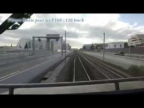 Train Cab ride Through France