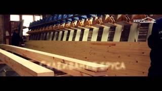 видео производство клееного бруса