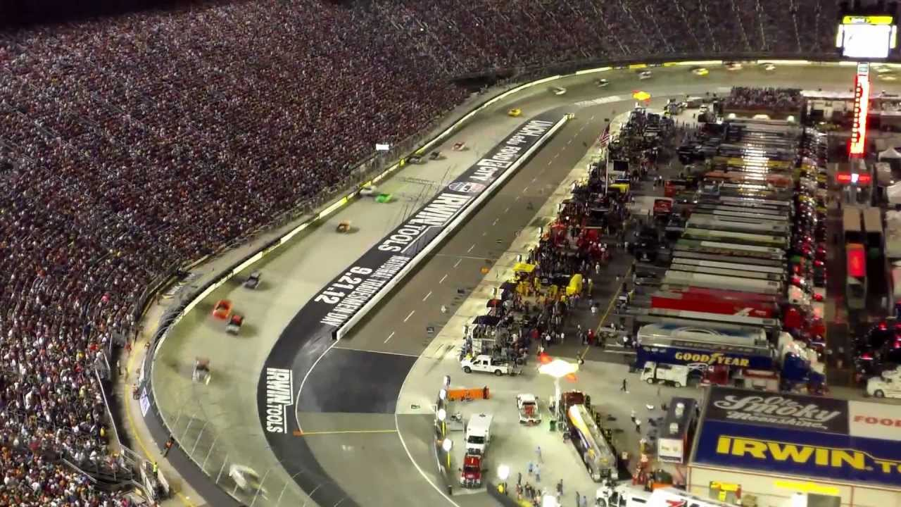 Bristol Motor Speedway View From Wallace Terrace For Night