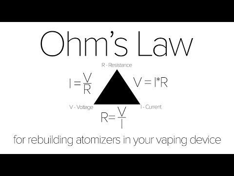 Ohm's Law Tutorial : Vape Safety