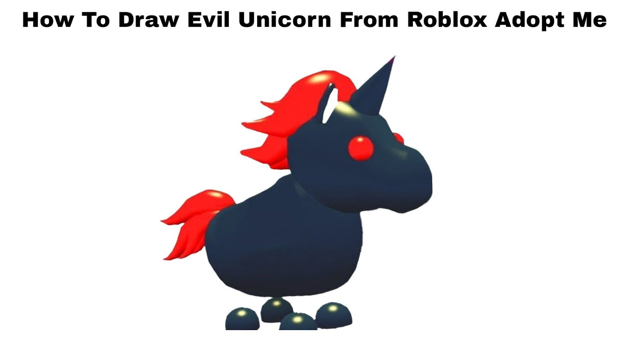How To Draw Evil Unicorn From Roblox Adopt Me - Step By ...