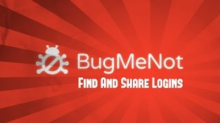 How To Log In To Any Website Without Registration [BugMeNot] by TechAndWin