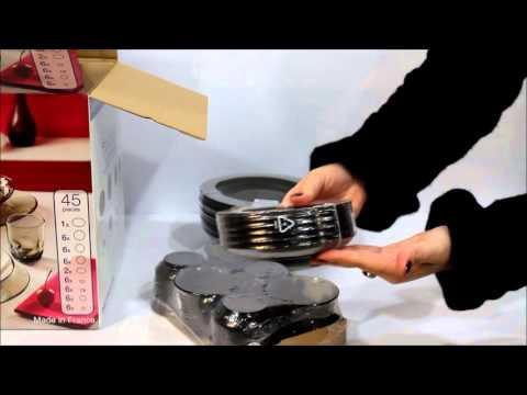 Cтоловый сервиз Luminarc Directoire Eclipse 45 предметов H0243