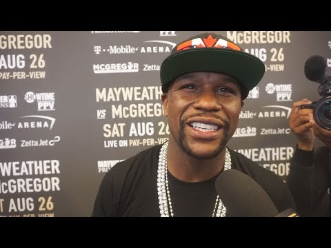 Thumbnail: Floyd Mayweather Jr. says he won the trash talk in Toronto at the MayMacWorldTour