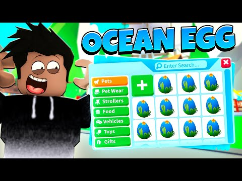 Trading the NEW Ocean Egg to see what people OFFER! (Roblox Adopt Me)