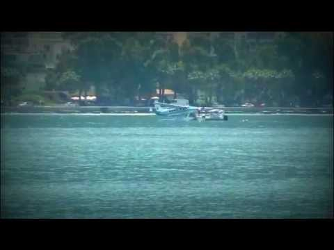 Vlora Albania 2013 - Hydroplan landing for the first time