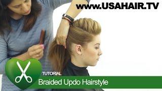 Braided updo hairstyle. parikmaxer TV USA | parikmaxer TV USA