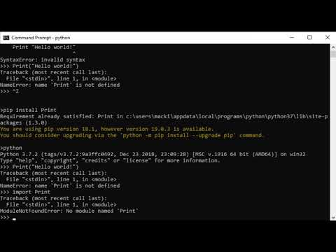 "Python ""Hello World!"" Tutorial thumbnail"