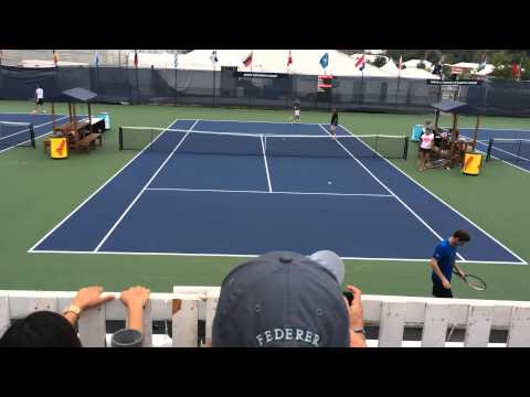 Andy Murray Tommy Robredo practice match