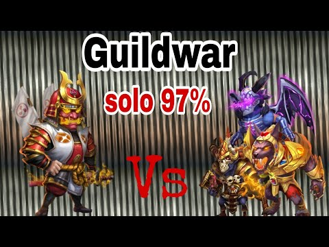 Guildwar - Ronin | Solo - 97% | Empower Hero On Base  | Castle Clash