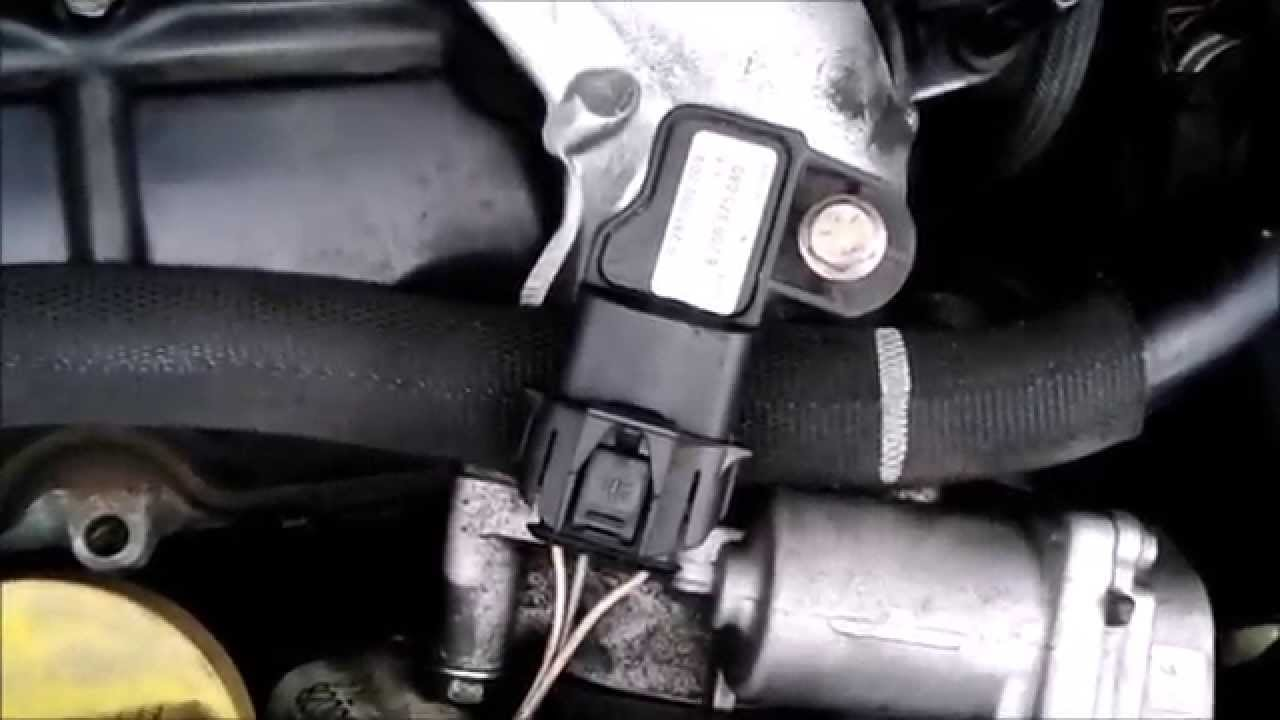 Change boost pressure sensor YouTube
