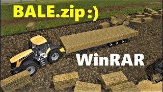 Farming Simulator 17 | BALE.zip  | WinRAR Auto Loader!!! FUNNY MOD!