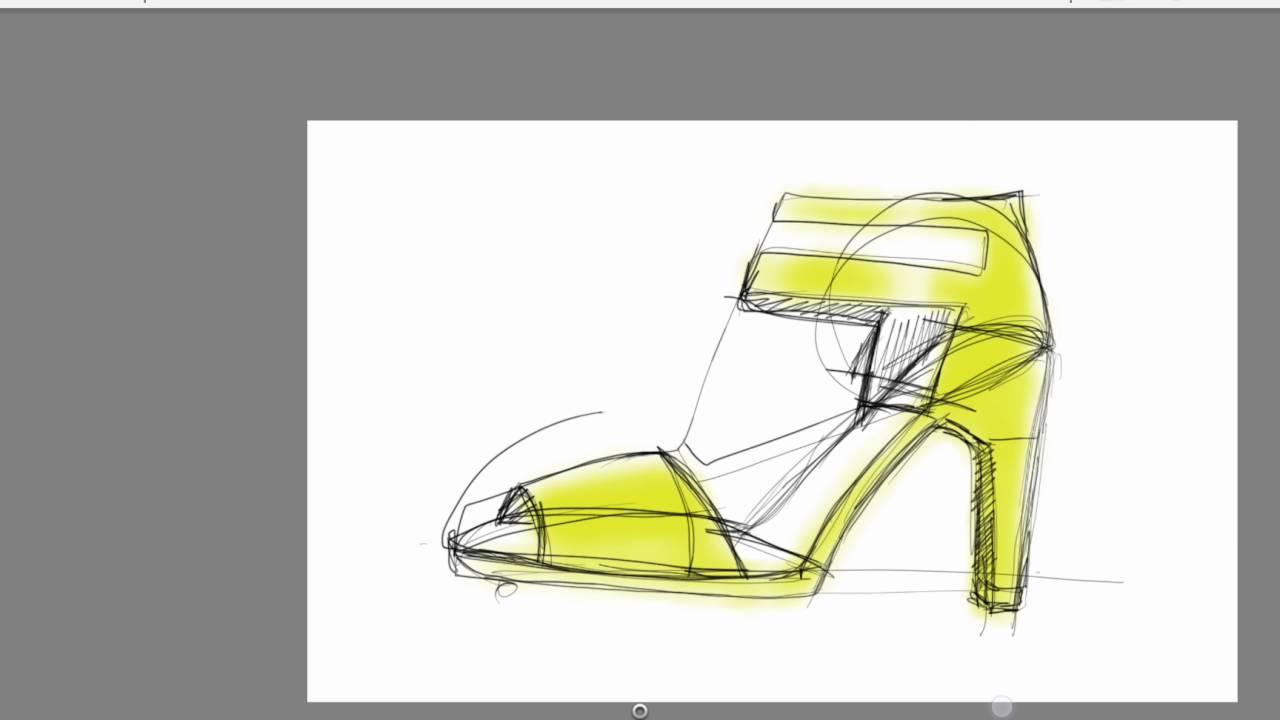 Ayakkabı Tasarım çizim Ve Boyama Aşaması Youtube