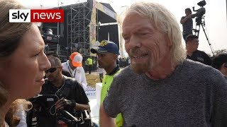 Sir Richard Branson hosts concert to sway Venezuelan military
