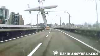 Commercial plane swipes highway and crashes into river